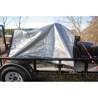 Roughneck 6-Oz. Extreme-Duty Black/Silver Poly Tarp — 30ft. x 50ft.