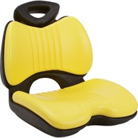 K & M Comfort Formed Lawn/Garden Tractor Seat — Yellow, Model# 8081