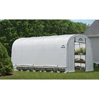 ShelterLogic GrowIT Heavy-Duty Round Greenhouse — 12ft.W x 20ft.L x 8ft.H, Model# 70592