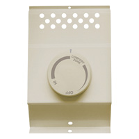 Cadet Thermostat — Double Pole, Fits Cadet F Series Baseboard Heaters, Almond, Model# BTF2A