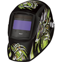 Hobart Impact Series Auto-Darkening Welding Helmet with Grind Mode — Bonehead II, Model# 770751