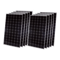 Sunforce 10-Pack of Grid-Tied Crystalline Solar Panels — 240 Watts Ea., 24 Volts, 8.9in.L x 38.9in.W x 1.5in.H ea.
