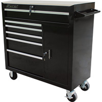 Excel 41in. Roller Cabinet — 6 Drawers, Model# TBR4108-Black