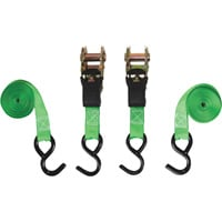 SmartStraps Padded Ratchet Tie-Downs — 1in. x 6ft. Each, 2 Pack, 1,500-Lb. Breaking Strength, Model# 138