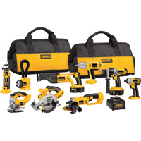 FREE SHIPPING — DEWALT 18V Cordless Combo Kit — 9-Tool Set With 2 Batteries, Model# DCK955X