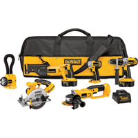 FREE SHIPPING — DEWALT 18V Cordless Combo Kit — 6-Tool Set With 2 Batteries, Model# DCK655X