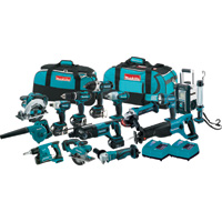 FREE SHIPPING — Makita 18V LXT Li-Ion Cordless Combo Kit — 15-Tool Set With 4 Batteries, Model# XT1500