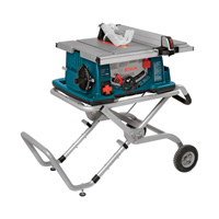 FREE SHIPPING — Bosch Jobsite Table Saw with Wheeled Stand – 10in. Blade, 15 Amp, Model# 4100-09