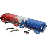 Wolo Infinity 2 48in. Strobe Light Bar – Red & Blue Lens, Model# 7515-BR