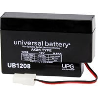 UPG Sealed Lead-Acid Battery — AGM-type, 12V, 0.8 Amps, Model# UB 1208P