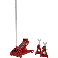 Blackhawk Automotive 3-Ton Professional Service Jack with 3-Ton Jack Stands — Model# BH6033