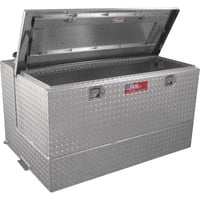 RDS Aluminum Transfer Fuel Tank Toolbox Combo — 95 Gallon, Rectangular, Diamond Plate, Model# 72367