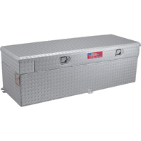 RDS Aluminum Auxiliary Fuel Tank Toolbox Combo — 51-Gallon, Rectangular, Diamond Plate, Model# 72747