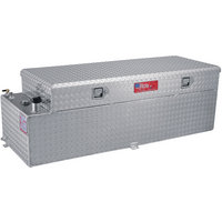 RDS Aluminum Auxiliary Fuel Tank Toolbox Combo — 60 Gallon, Rectangular, Diamond Plate, Model# 72547