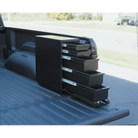 Northern Tool + Equipment Steel Sliding Drawer Truck Box — 5 Drawer, Vertical, Black, Fits 8ft. Bed, 21 5/8in.L x 7 5/8in.W x 19in.H