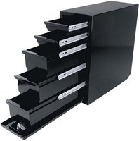 Northern Tool + Equipment Steel Sliding Drawer Truck Box — 5 Drawer, Vertical, Black, 18in.L x 7 5/8in.W x 18 7/8in.H