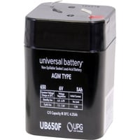 UPG Sealed Lead-Acid Battery — 6 Volts, 5 Amps, Model# UB650F Lantern