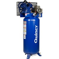 FREE SHIPPING — Quincy QT-54 Splash Lubricated Reciprocating Air Compressor — 5 HP, 230 Volt, 1 Phase, 60-Gallon Vertical, Model# 2V41C60VC