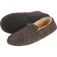 Men's Fabric Moccasins — Gray