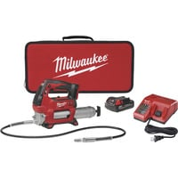 Milwaukee Cordless Grease Gun Kit — 18V, 10,000 PSI, 1 Battery, Model# 2646-21CT