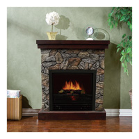 Stonegate Polystone Electric Fireplace with Mantel —  5115 BTU, Model# CSN41-26FR