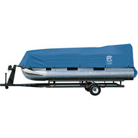 Classic Accessories Stellex All-Seasons Pontoon Boat Cover — Blue, Fits 21ft.L-24ft.L x 102in.W Pontoon Boats, Model# 20-151-090501-00