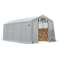 ShelterLogic Firewood Seasoning Shed — 20ft.L x 10ft.W x 8ft.H, Holds 7 Cords, Model# 90397
