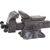 Klutch Heavy-Duty Bench Vise — 5in. Jaw Width