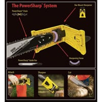 Oregon PowerSharp Bar-Mount Chain Sharpening Kit For 18in. Chain Saws, Model# 541662