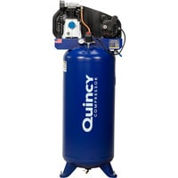 FREE SHIPPING — Quincy Single-Stage Air Compressor — 3.5 HP, 220 Volt, 60-Gallon Vertical Tank, Model# Q13160VQ