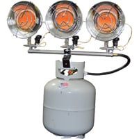 Mr. Heater Tank-Top Heater — Triple Burner, 10,000-45,000 BTU, Model# MH45T