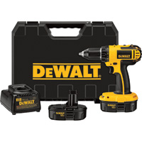 FREE SHIPPING — DEWALT Compact Cordless Drill Kit — 18 Volt, 1/2in., Model# DC720KA
