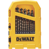 FREE SHIPPING — DEWALT Pilot Point Gold Ferrous Oxide Drill Bit Set — 29-Pc., Model# DW1969