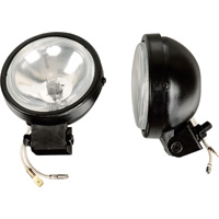 Ironton 12 Volt Halogen Driving Spotlights — Pair, 3 1/2 in. Dia., 55 Watts/Ea.