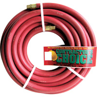 Industrial Red Rubber Hose — 3/4in. x 50ft., 3/4in. NPT Fittings, 200 PSI, Model# RR3/4X50-200-12MP