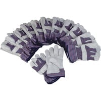 Ironton Split Cowhide Palm Work Gloves - 12 Pairs