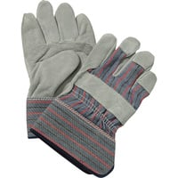 Ironton Split Cowhide Palm Work Gloves - One Pair