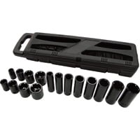 Ironton Standard & Deep Impact Socket Set — 16-Pc., 3/8in. Drive, SAE