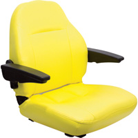 K & M Universal Seat Assembly — Yellow, Model# 8209
