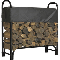 Roughneck Covered Firewood Rack — 4ft.L, Model# 90350