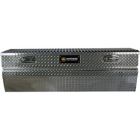 Northern Tool + Equipment Locking Chest Truck Tool Box — Diamond Plate Aluminum, 60in.
