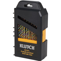FREE SHIPPING — Klutch 118° Cobalt-Coated Steel Drill Bit Set — 29-Pc.