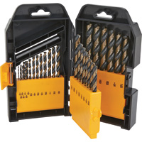 FREE SHIPPING — Klutch 135° Cobalt-Coated Steel Drill Bit Set — 29-Pc.