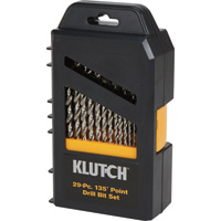 FREE SHIPPING — Klutch High Speed Steel Drill Bit Set — 29-Pc.