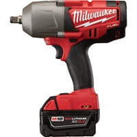 FREE SHIPPING — Milwaukee M18 FUEL 1/2in. High Torque Impact Wrench with Friction Ring — Two M18 RedLithium XC 5.0 Batteries, Model# 2763-22