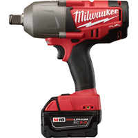 FREE SHIPPING — Milwaukee M18 FUEL 3/4in. High Torque Impact Wrench with Friction Ring Kit — Two M18 RedLithium XC 5.0 Batteries, Model# 2764-22