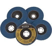 FREE SHIPPING — Klutch 4in. Flap Discs — 5-Pk., Type 29, 60 Grit
