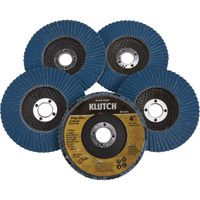 FREE SHIPPING — Klutch 4in. Flap Discs — 5-Pk., Type 29, 80 Grit