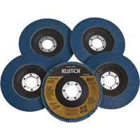 FREE SHIPPING — Klutch 4.5in. Flap Discs — 5-Pk., Type 29, 120 Grit