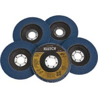 FREE SHIPPING — Klutch 4.5in. Flap Discs — 5-Pk., Type 29, 60 Grit